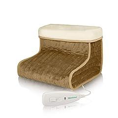 Idea Regalo - Medisana FWS Scaldapiedi Materiale Traspirante Extra-Morbido, Riscaldamento Rapido con 100 Watt, 3 Impostazioni di Temperatura, Ampio Spazio per i Piedi - 60257