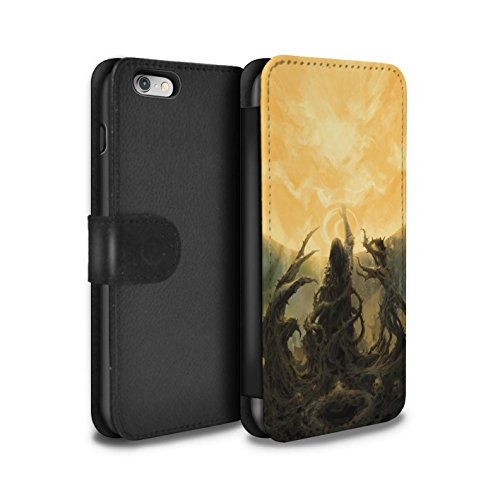 Offiziell Chris Cold PU-Leder Hülle/Case/Tasche/Cover für Apple iPhone 6S / Hades/Phantom Muster / Unterwelt Kollektion Sonnengott/Reben