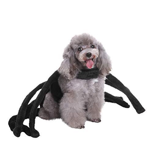 POPETPOP Pet Spider Kostüm-Spider Dog Kostüm für Halloween Christmas Festival Outfit, Cute Pet Kostüme für Teddy, Mops, Chihuahua, Shih Tzu, Yorkshire Terrier-Small