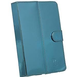 Jo Jo G10 Mirror Flip Flap Case Cover Pouch Carry For Vodafone Smart Tab Ii 7 Light Blue
