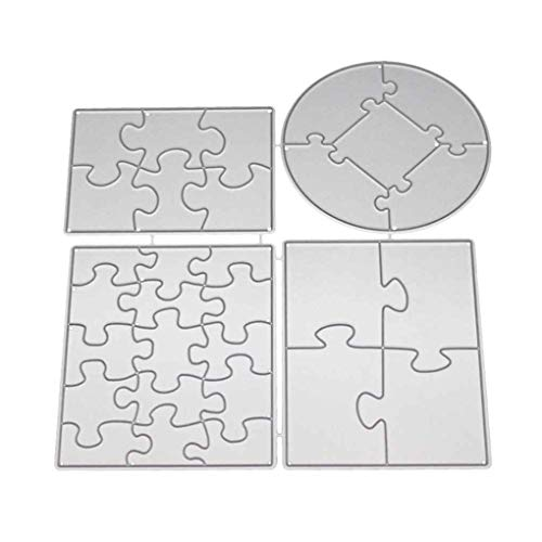 Mengonee DIY Alphabet Puzzle Scrapbooking Stencils Album-Karten Spanabhebegerät Mold Metall Kohlenstoffstahl-Schneideisen