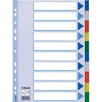 A4 2er Pack hellblau 12 Blatt mit farbigen Taben Leitz 15262 Plastikregister Polyproplyen
