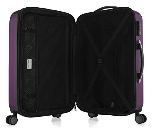 HAUPTSTADTKOFFER - Alex - NEU 4 Doppel-Rollen Hartschalen-Koffer Koffer Trolley Rollkoffer Reisekoffer, TSA, 65 cm, 74 Liter, Aubergine - 5