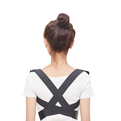 YANGFH Buckelkorrektur Gürtel versteckte Ausbildung Studenten universelle Korrektur hoch und niedrig Schultergurte Brustkorrektur mit Sitzhaltung Korrektur Rückenstütze (Size : M)