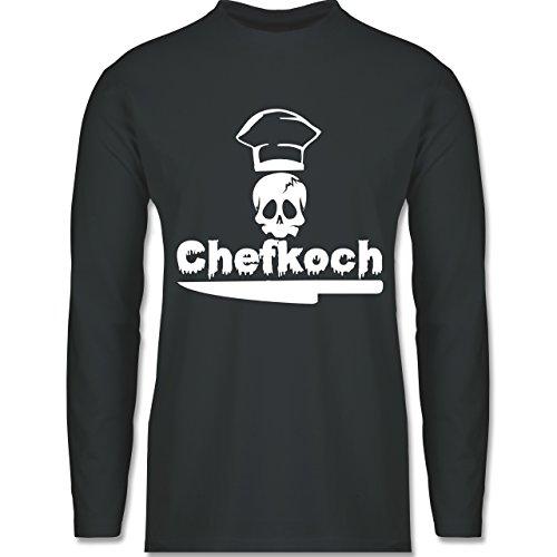 Shirtracer Küche - Chefkoch - Herren Langarmshirt Dunkelgrau