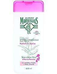 Le Petit Marseillais Douche et Bain Hypoallergénique Sève Aloe Fleur Pommier 650 ml - Lot de 2