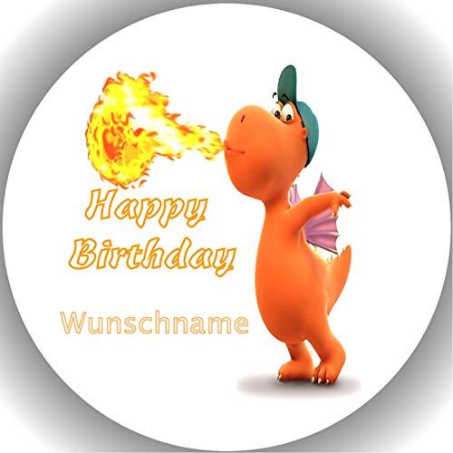 rtenaufleger Tortenbild Geburtstag Der kleine Drache Kokosnuss Wunschname T1 ()