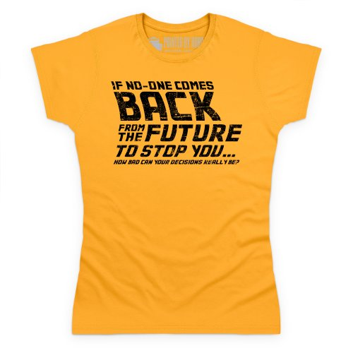 Back From The Future T-Shirt, Damen Gelb