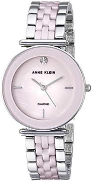 Anne Klein Womens Quartz Watch, Analog Display and Ceramic Strap