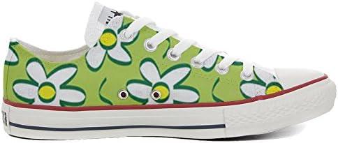 Converse Personalizzate all Star Slim scarpe scarpe scarpe da ginnastica Unisex scarpe da ginnastica Unisex (Prodotto Artigianale) Daisies - TG40 B06WP8XM6G Parent | Per tua scelta  | Qualità e consumatori in primo luogo  | Fashionable  | Ammenda Di Lavorazione  87d0f1