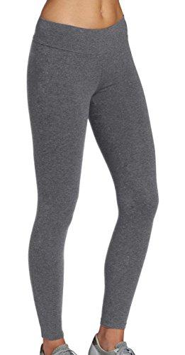 Damen 100% Baumwolle Kurze (iLoveSIA Leggingshosen Leggings Sport Damen Hosen Laufen Hose Joggings grau Slim fit,Größe M)