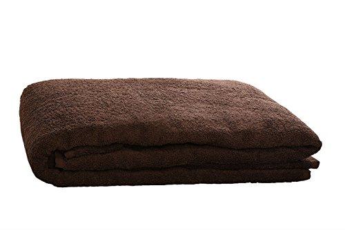 Algodonea Toalla Manta 150x200cm, 100% algodón, 460gr/m2, Fabricada en UEUE. (Chocolate)