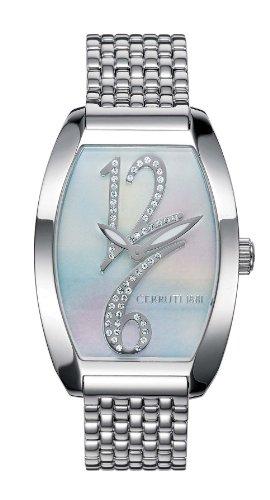 Cerruti 4311370 - Reloj analógico de mujer de cuarzo con correa de acero inoxidable blanca - sumergible a 30 metros