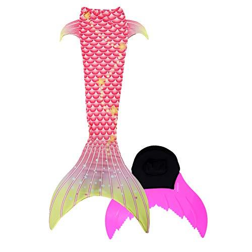 Xyfushi Neu Kinder Mädchen Erwachsene Damen Bademode Meerjungfrau Schwanz mit Monoflosse (Rosa B, Klein) (Leichtes Salz Kostüm)