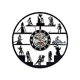 Tavolo houlian shop Numeri Orologio da Parete in Vinile Decorazione Stile Vintage Designer Non Ticchettio per Cucina Camera da Letto Giardino Soggiorno Ufficio Studio Star Wars