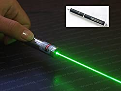 Buyerzone Green Laser Disco Pointer Pen Beam With Adjustable Cap To Change Project Design