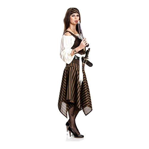 Kostümplanet® Piratin-Kostüm Damen Piraten-Kostüm Größe 44/46