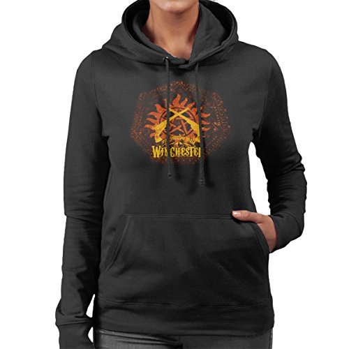 Non Timebo Mala Supernatural Women's Hooded Sweatshirt Black