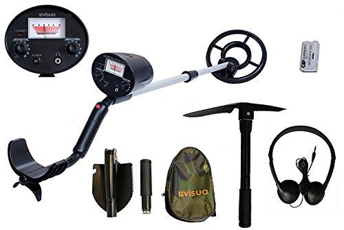 Metalldetektor, leichtgewichtig Detector Kit: H/Phones Batts & Pick schwarz