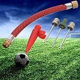Bloomgreen Co. 5Pcs Kugel aufbläst Pumpe Ventil-Adapter-Kit für Fußball Basketball Fußball