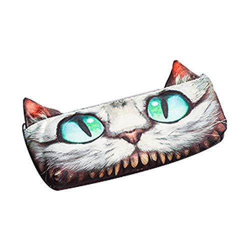 (Ouken 1 PCS-Bleistift-Kasten Entzückende Katzen Perfekte Tasche für Kugelschreiber/Bleistifte / Kosmetik/Münzen (Cheshire Cat))