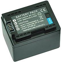 MP Power @ Reemplazo Li-ion batería BP727 BP-727 BP 727 2685mah 3.6V para Canon videocámara LEGRIA / VIXIA HF M50, HF M52, HF M56, HF M500, HF M506, HF R36, HF R37, HF R38, HF R46, HF R47, HF R48, HF R56, HF R57, HF R66, HF R67, HF R68, HF R306, HF R406, HF R506, HF R606