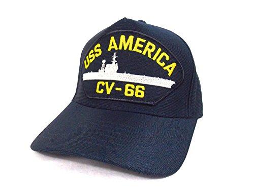 Gorra Naval Marina Militar Navy Americana Puerta avión USS America cv-66  Made in USA 2342002b2d2
