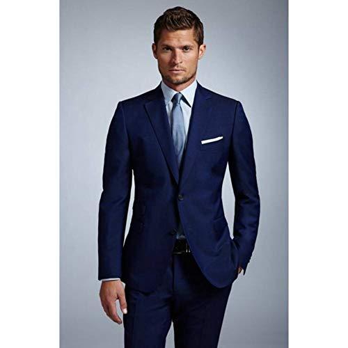 Hochzeit Bräutigam Kostüm - GFRBJK 2018 Blau Elegant Normal Slim Fit Herren Anzug Kostüm Homme Formal Business Herren Blazer Anzug Herren Anzüge Hochzeit Bräutigam (Jacke + Hose) 6XL