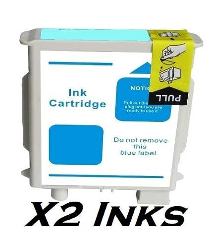 2X HP 85 LIGHT CYAN COMPATIBLE PRINTER CARTRIDGE FOR HP Designjet:- 130, 130GP, 130NR, 30, 30GP, 3N, 90, 90GP, 90R. 69ml