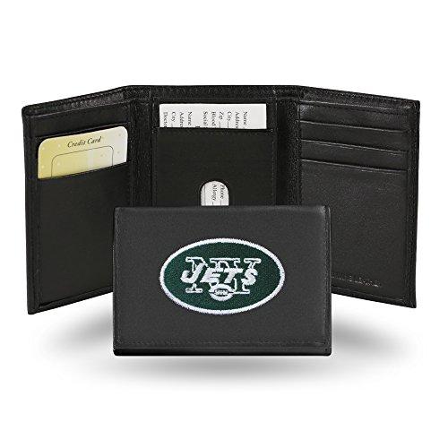 Unbekannt Besticktes Portemonnaie von NFL, dreifach gefaltet, Unisex Herren, RTR2201, New York Jets, einheitsgröße