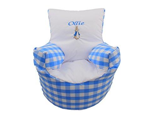 (Kinder Sitz für die Pre gefüllt mit Sitzsack für Kinder Kleinkinder Jungen, Peter Rabbit (Versand am nächsten Tag))