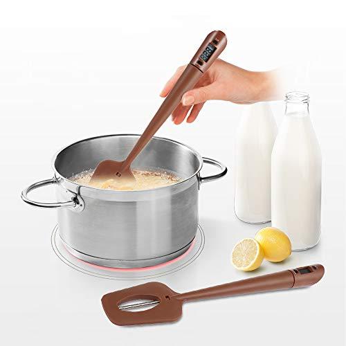 HLHKAY Tragbare silikon schaber spachtel Lange sonde digitales Lebensmittel Thermometer Schokolade Kochen backenwerkzeuge für küchenhelfer -