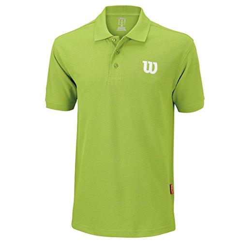 Wilson M Core W, Polo Uomo, Verde, M