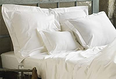 Linen Galaxy T400 White Egyptian Cotton Sateen Satin Flat Sheets Fitted Sheets Hotel Quality (Pillow Cases Sold Separately) All Items Sold Separately