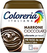 Coloreria Italiana Colorante per Tessuti,Marrone Cioccolato, 350g