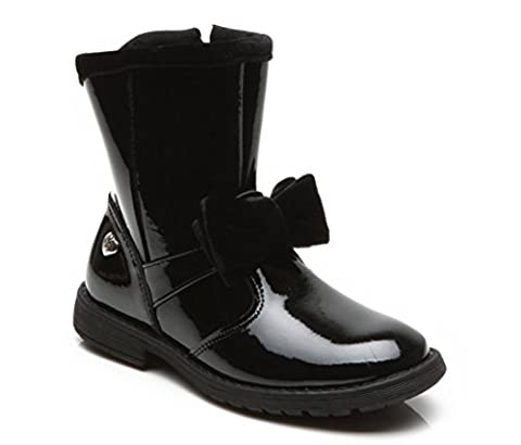 REGAL Step2wo Girls Mid Calf Boot with Velvet Bow in