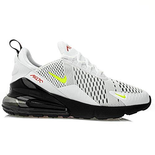 Nike Jungen Air Max 270 (gs) Leichtathletikschuhe, Mehrfarbig (White/Volt/Black/Bright Crimson 000), 38 - Air Kinder Nike