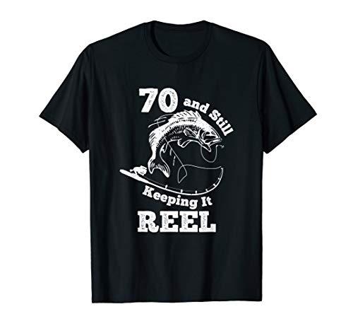 70 und es noch behalten Bandspulen-T-Shirt 70. Geburtstag T-Shirt
