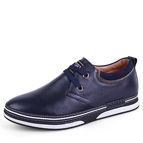 Feidaeu Oxford Hommes Chaussures Lacet Cuir PU Souple Plat Basse Antidérapant British Style Inodore Respirent Loisir Derby