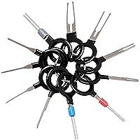 11 unidades/set de cables eléctricos de coche Conector Crimp Pin Plug Key Extractor Kits