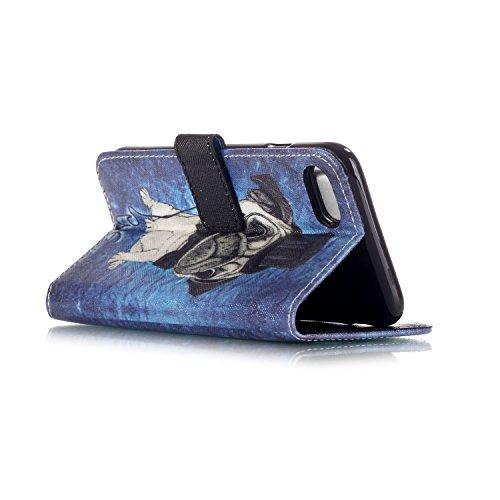 Coque pour iPhone 7G / 7,Housse en cuir pour iPhone 7G / 7,Ecoway Colorful imprimé étui en cuir PU Cuir Flip Magnétique Portefeuille Etui Housse de Protection Coque Étui Case Cover avec Stand Support  YH-02