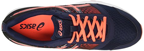 Asics Patriot 8, Gymnastique mixte adulte Blu (Dark Navy/Flash Coral/White)