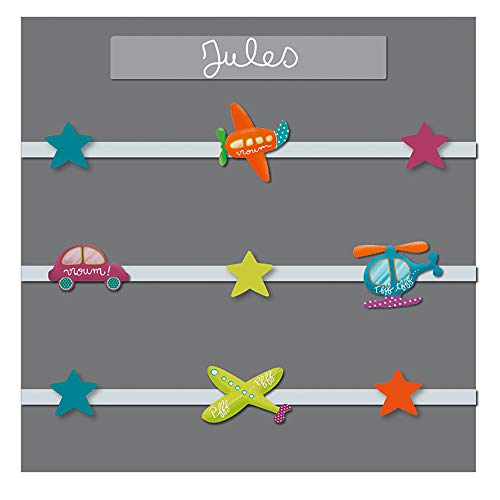TITOUTAM - Pêle-mêle bébé 9 vues personnalisable p'tits pilotes