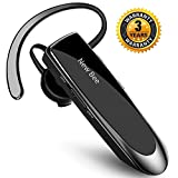 New Bee Bluetooth Earpiece Wireless Bluetooth Headset Handsfree in Ear with Clear Voice Capture Technology Bluetooth In-Ear Headset for iPhone Samsung Huawei HTC, Sony, etc (Black)