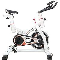 Preisvergleich für KinshopS Indoorcycling Bikes mit 13KG Schwungrad, Spinred indoorbike Verbesserte Version Armauflage und Sattel, Fitness Bike Universal Heimtrainer CY-S501 Weiß