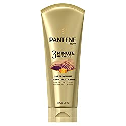 Pantene Sheer Volume 3 Minute Miracle Deep Conditioner, 8 Fluid Ounce