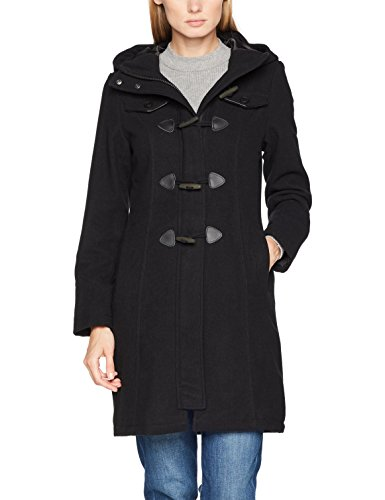 Brandit Damen Mantel Dufflecoat Long, Schwarz (Black 2), X-Small