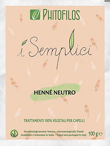 Phitofilos henne' neutro i semplici 100gr 100% vegetale tonico lucidante
