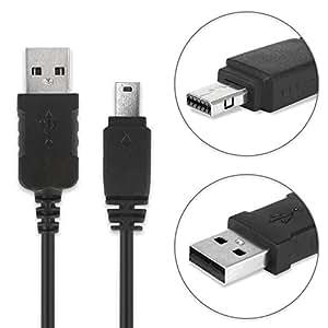 subtel® Cavo USB dati (1m) per Casio Exilim EX-FC100, EX-Z2, EX-Z550, EX-Z1050, -Z100, EX-Z75, EX-Z80, -Z85, EX-Z90, EX-ZR10, -ZR100, EX-S12, -S10, EX-H20g, EX-F1, EX-FH100, -FH20, EX-H30 (Casio Connector a USB A (Standard USB)), EMC-6 cavo ricarica nero