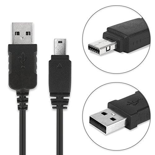 subtel® USB Kabel 1m kompatibel mit Casio EX-F1 Casio Exilim EX-ZR100 -ZR1000 -ZR200 -ZR300 EX-Z75 EX-H15 -H10 EX-FH20 -FH100 EX-S10 EX-G1 EX-Z90 -Z300 EX-FC100, Casio EMC-6 EMC6 12 Pin USB Ladekabel Datenkabel - Ex-kabel